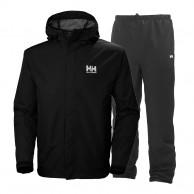Helly Hansen Seven J, regntøj, sæt, mænd, sort