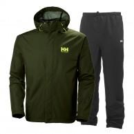 Helly Hansen Seven J, regnsæt, mænd, grøn