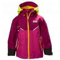 Helly Hansen K Shelter, regnjakke, børn, lilla
