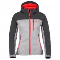 Kilpi Elia, softshell jakke, kvinder, lysgrå/rød
