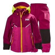 Helly Hansen K Shelter, regnsæt, børn, lilla
