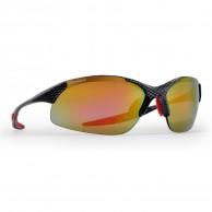 Demon 832 cykelsolbriller, m. 3 sæt linser, carbon/rød