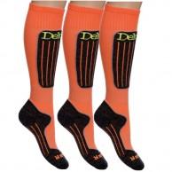 Deluni skistrømper, 3 par orange, Betal for 2