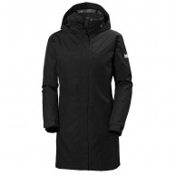 Helly Hansen Aden Long Insulated regnfrakke, sort