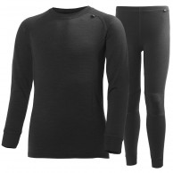Helly Hansen Lifa Merino sæt, junior, sort