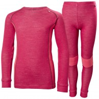 Helly Hansen Lifa Merino skiundertøjssæt, junior, persian red
