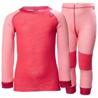 Helly Hansen Lifa Merino skiundertøjssæt, barn, strawberry pink