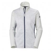 Helly Hansen W Graphic fleece jacket, dame, white