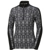 Helly Hansen W Lifa Merino Graphic 1/2 Zip, dame, sort