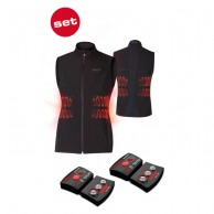 Lenz Heat Vest 1.0 + Lithium Pack rcB 1800, dame, black
