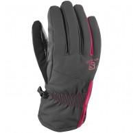 Salomon Propeller Dry W skihandske, black/cerise