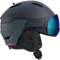 Salomon Driver, skihjelm med visir, Blue/Moroccan