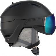 Salomon Mirage S, skihjelm med visir, black/rose