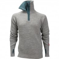 Ulvang Rav sweater w/zip, herre, grey melange