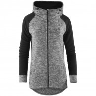 Outhorn Warmy Duo Hoodie, lang fleece jakke, dame, grå