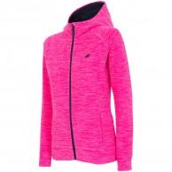 4F Warm Fleece hoodie, dame, pink