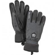 Hestra Army Leather Wool Terry skihandske, grå/sort
