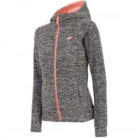 4F Warm Fleece hoodie, dame, grå