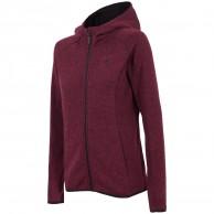 4F Warm Fleece hoodie, dame, voilet