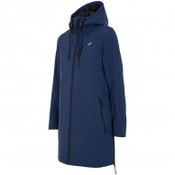 4F Inez lang softshell jakke, dame, blå