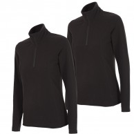 Outhorn Midela 1/4 zip fleecepulli, dame, sort, 2-pak