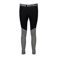 Mons Royale Christy Legging, skiunderbukser, Black/Thick Stribe