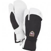 Hestra Army Leather Patrol 3-finger skihandsker, sort