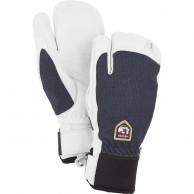 Hestra Army Leather Patrol 3-finger skihandsker, marin