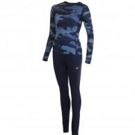 4F Cooldry skiundertøj, dame, sæt, navy