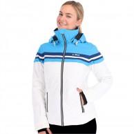 Deluni skijakke, dame, hvid