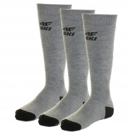 4F 3 par billige skistrømper, herre, cold light grey