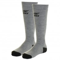 4F 2 par billige skistrømper, herre, cold light grey