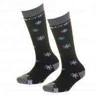 Cairn Spirit skistrømper, 2-pak, børn, black snow