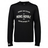 Mons Royale Yotei Tech LS, skiundertrøje, herre, sort