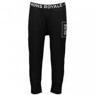Mons Royale Shaun-off 3/4 Legging, skiunderbukser, herre, sort