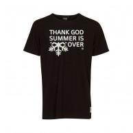 Thank God Summer is Over T-shirt, sort/hvid