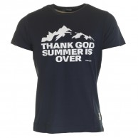 Thank God Summer is Over T-shirt, New Mountain Navy