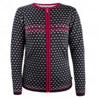 Kama Alva Merino Sweater m. lynlås, dame, black