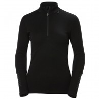Helly Hansen Lifa Merino 1/2 Zip, dame, sort