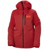 Helly Hansen Powchaser Lifaloft skijakke, dame, rød