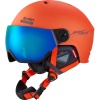 Cairn Eclipse Rescue, skihjelm med visir, orange blue