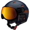 Cairn Shuffle Evolight, skihjelm med visir, mørkeblå orange