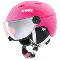 Uvex junior pro, skihjelm med visir, pink