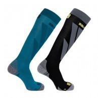 Salomon S/Access skistrømper, 2-pak, blå/sort