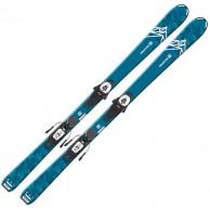 Salomon QST MAX Jr M + L6 GW, blå/hvid