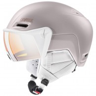 Uvex hlmt 700, skihjelm med visir, rosa