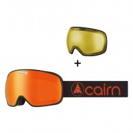 Cairn Magnetik, skibriller, mat sort orange