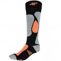 4F skistrømper, dame, sort/orange