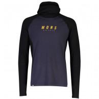 Mons Royale Olympus 3.0 Pullover Hood, herre, black 9 iron