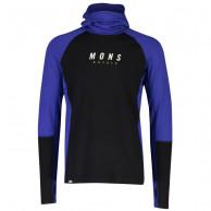 Mons Royale Olympus 3.0 Pullover Hood, herre, ultra blue black